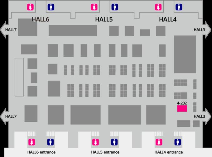 スーパーマーケットトレードショー2021チェッカーサポートブース位置 4ホール202